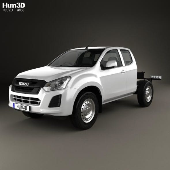 Isuzu D-Max Space Cab Chassis SX 2017 - 3DOcean Item for Sale