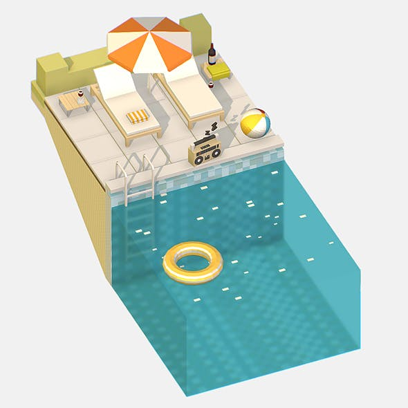 Relax by the pool on the sun loungers