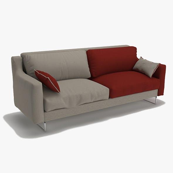 TRiple Sofa Double Colour Model - 3DOcean Item for Sale