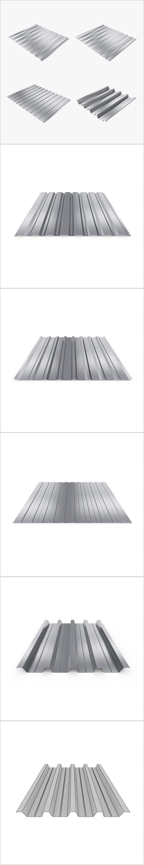 Profiled sheet set - 3DOcean Item for Sale