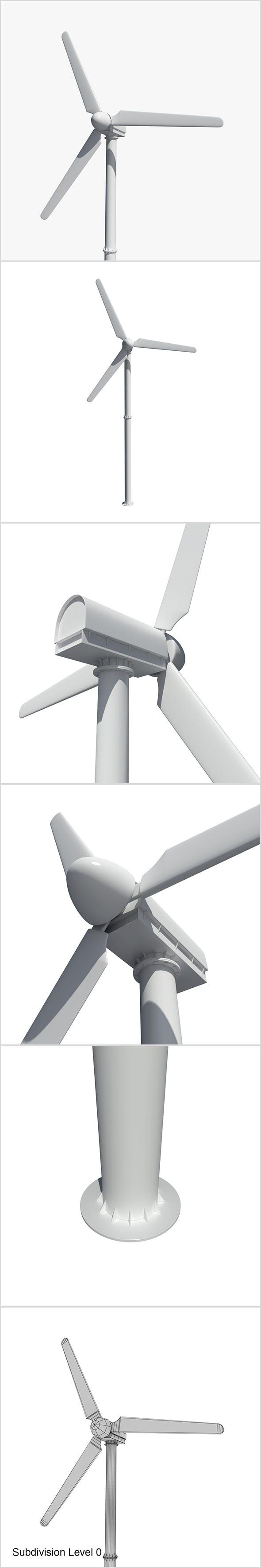 Wind turbine - 3DOcean Item for Sale