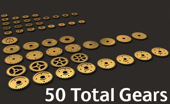 3d Gears Collection - 3DOcean Item for Sale