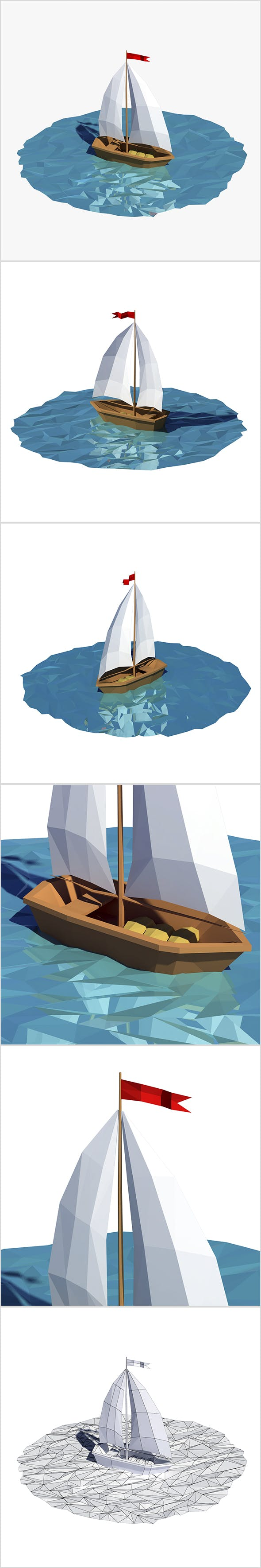 Cartoon boat - 3DOcean Item for Sale