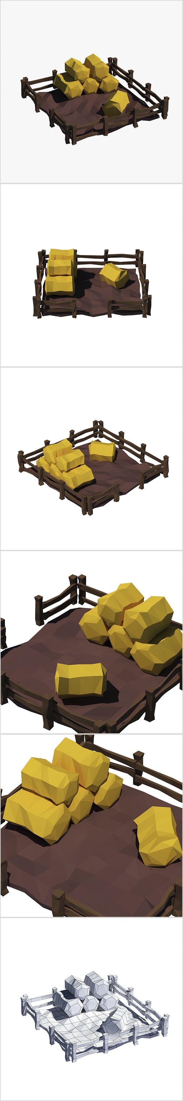 Cartoon haystacks - 3DOcean Item for Sale