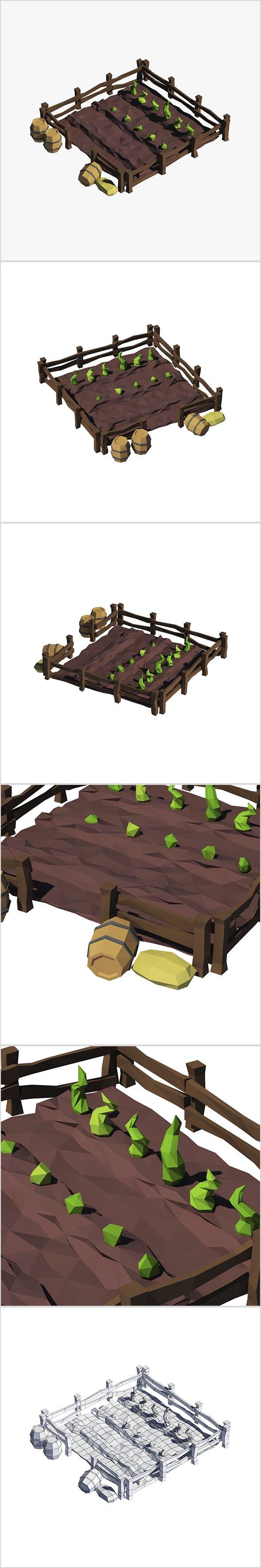 Cartoon garden - 3DOcean Item for Sale