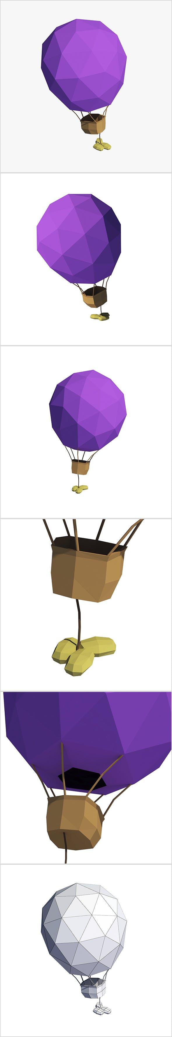 Cartoon air balloon - 3DOcean Item for Sale