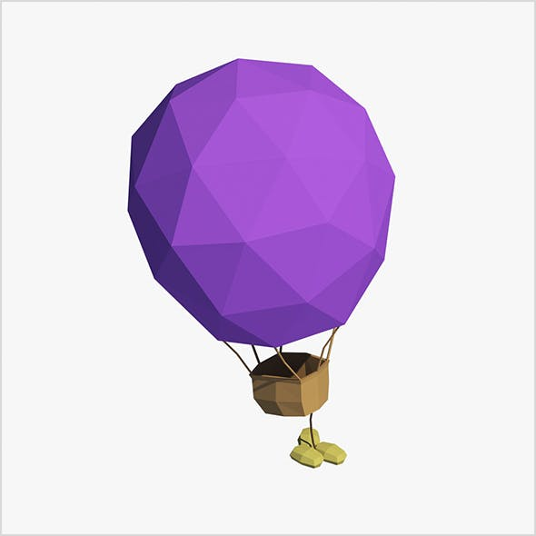 Cartoon air balloon