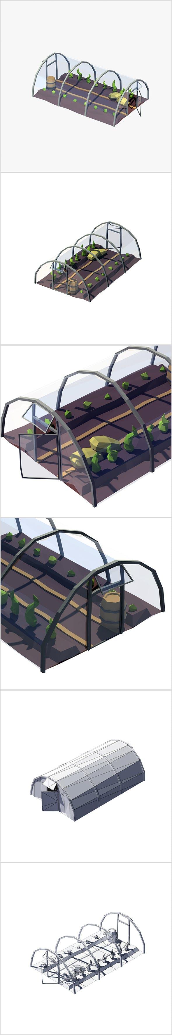 Cartoon greenhouse - 3DOcean Item for Sale