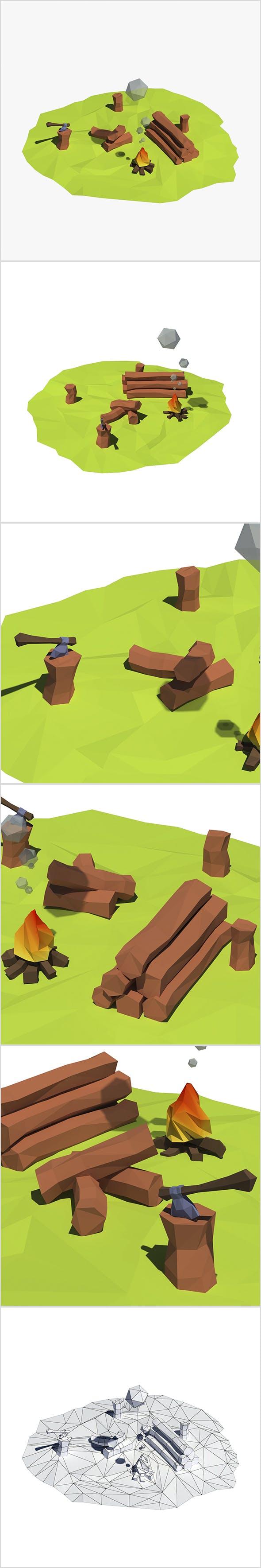 Cartoon logs - 3DOcean Item for Sale