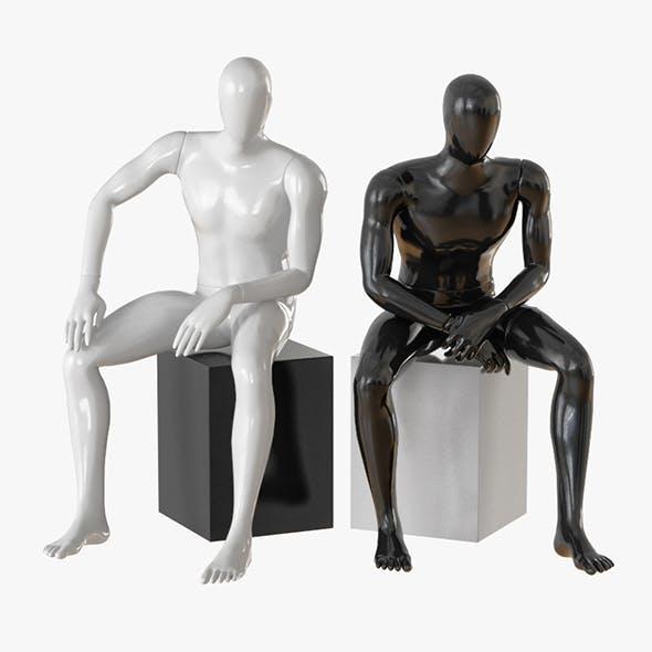Faceless male mannequin 09