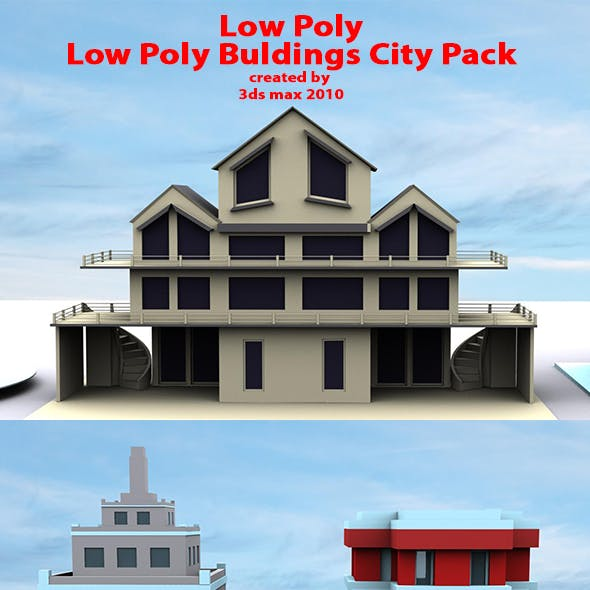 Bulding pack Low Poly 3D Game Assets