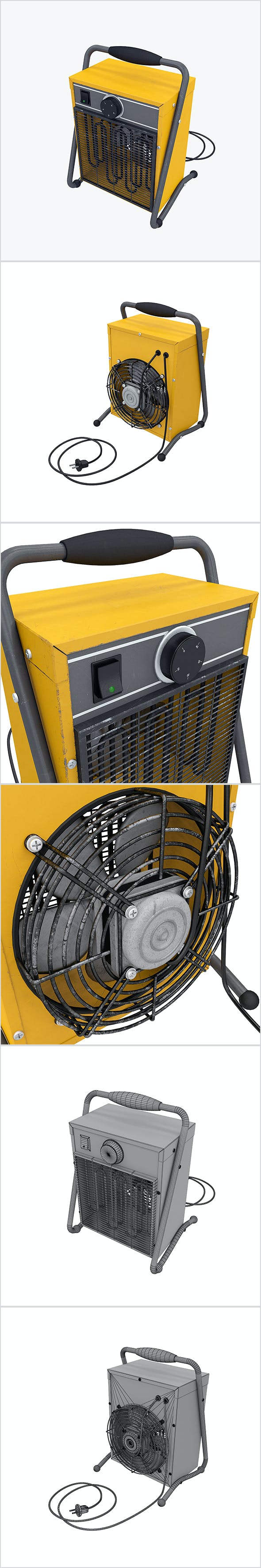 Fan heater - 3DOcean Item for Sale