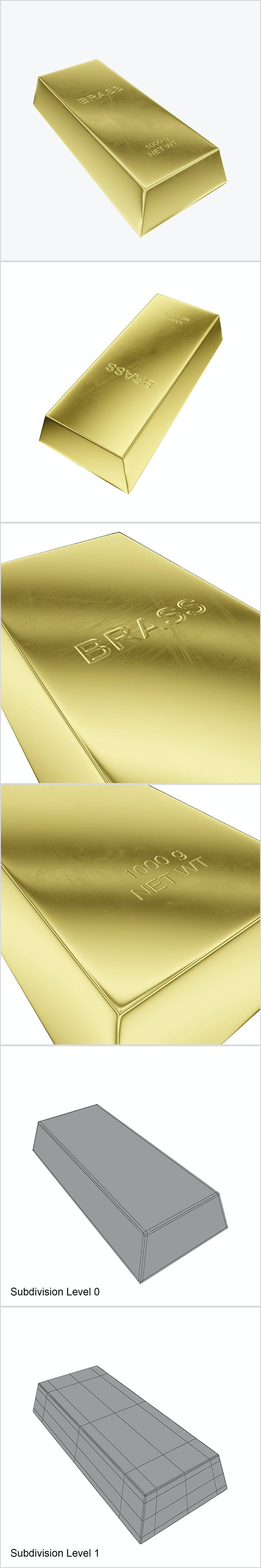 Ingot brass - 3DOcean Item for Sale