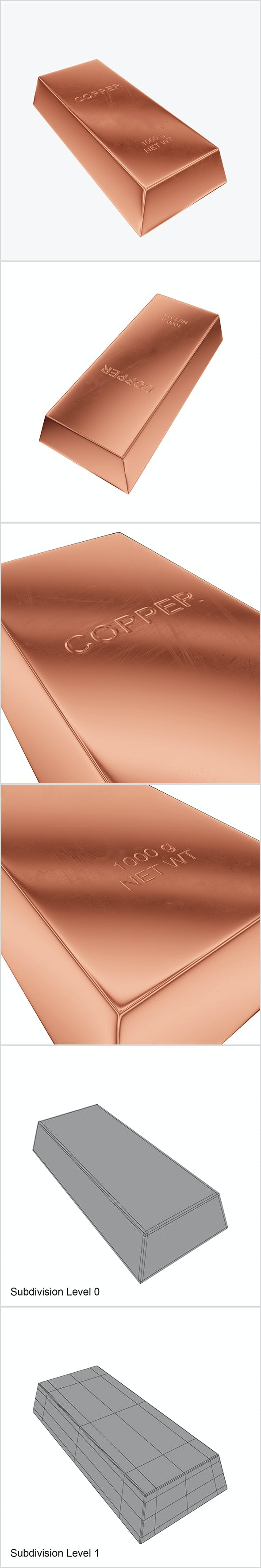 Ingot copper - 3DOcean Item for Sale