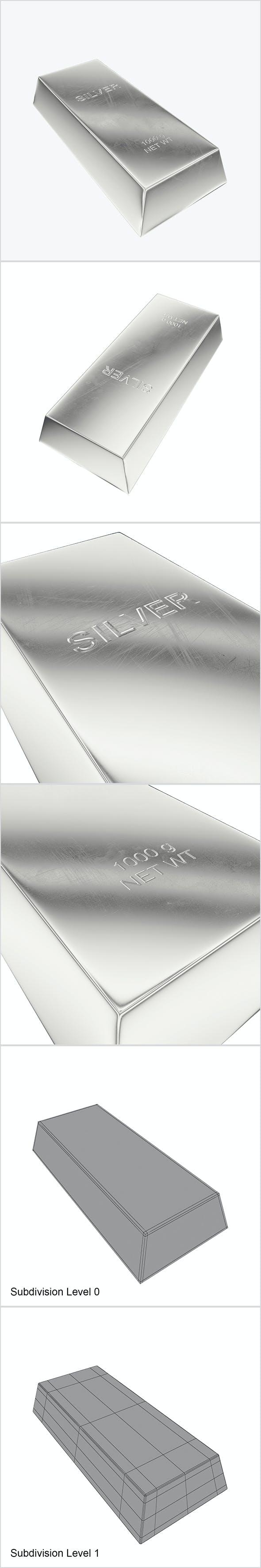 Ingot silver - 3DOcean Item for Sale