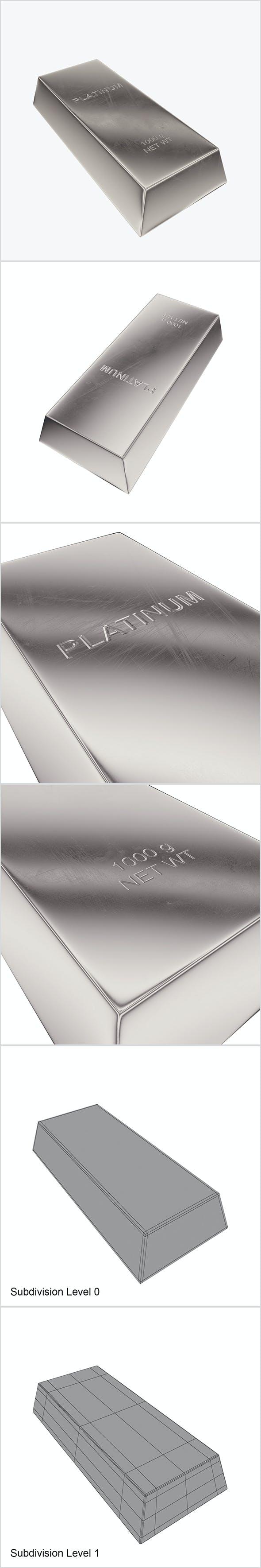 Ingot platinum - 3DOcean Item for Sale