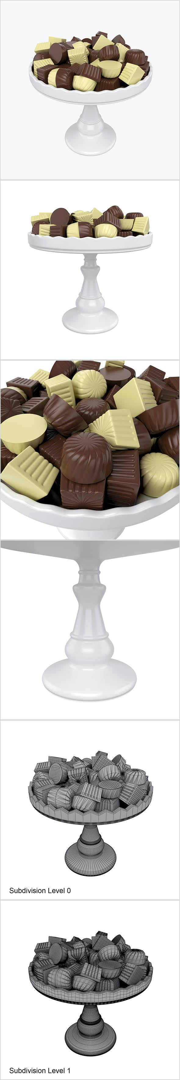 Chocolate candy on tray - 3DOcean Item for Sale