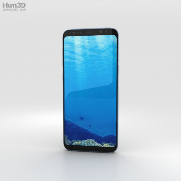 Samsung Galaxy S8 Coral Blue - 3DOcean Item for Sale