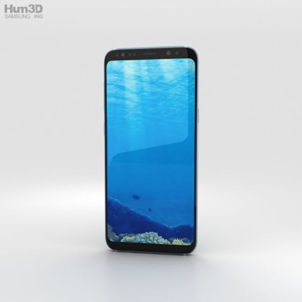 Samsung Galaxy S8 Plus Coral Blue - 3DOcean Item for Sale