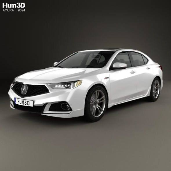 Acura TLX A-Spec 2017 - 3DOcean Item for Sale