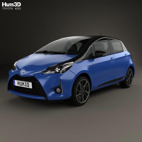 Toyota Yaris Hybrid Bi-Tone 2017 - 3DOcean Item for Sale