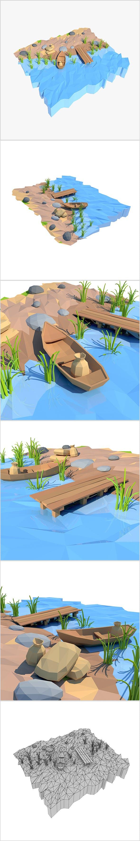Cartoon shore - 3DOcean Item for Sale