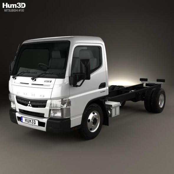 Mitsubishi Fuso Canter 515 Superlow City Cab Chassis Truck 2016 - 3DOcean Item for Sale