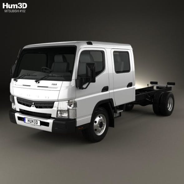 Mitsubishi Fuso Canter 815 Wide Crew Cab Chassis Truck 2016 - 3DOcean Item for Sale
