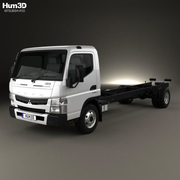 Mitsubishi Fuso Canter 918 Wide Single Cab Chassis Truck 2016 - 3DOcean Item for Sale