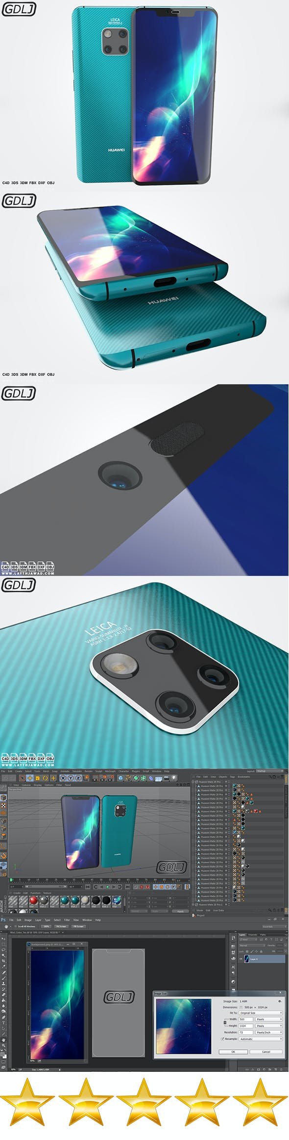Huawei Mate 20 Pro - 3DOcean Item for Sale