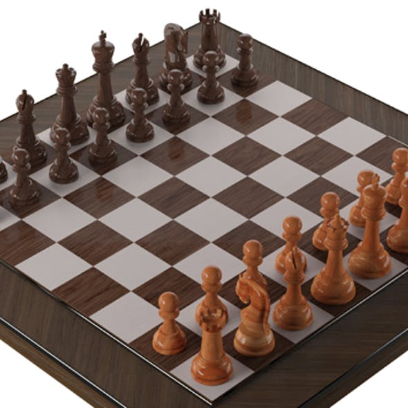 wooden chess desk table