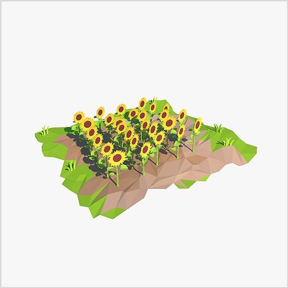 Cartoon sunflowers