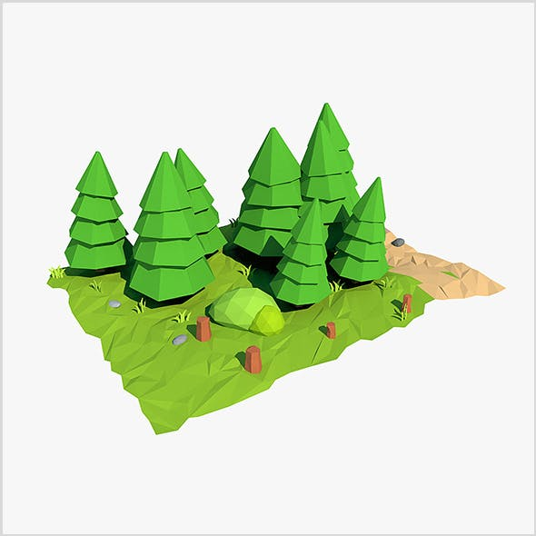 Cartoon fir tree