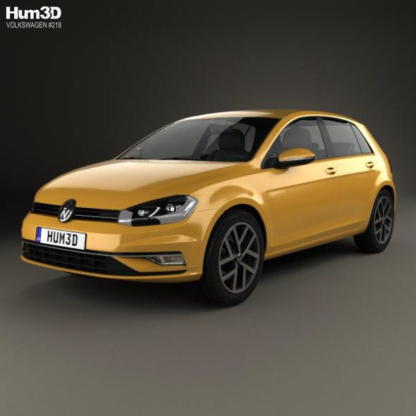 Volkswagen Golf 2017 - 3DOcean Item for Sale