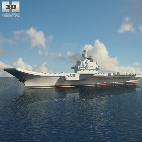 Admiral Kuznetsov aircraft carrier - 3DOcean Item for Sale