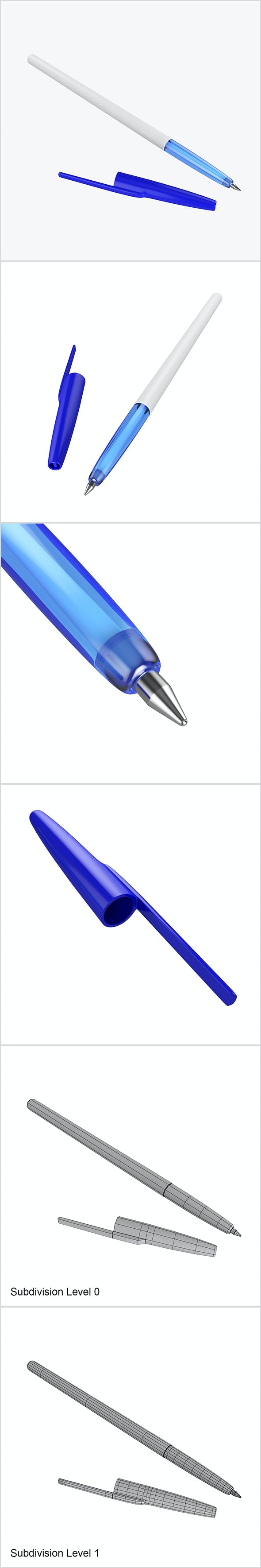Ballpoint pen - 3DOcean Item for Sale