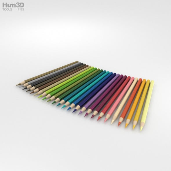Colored Pencils - 3DOcean Item for Sale
