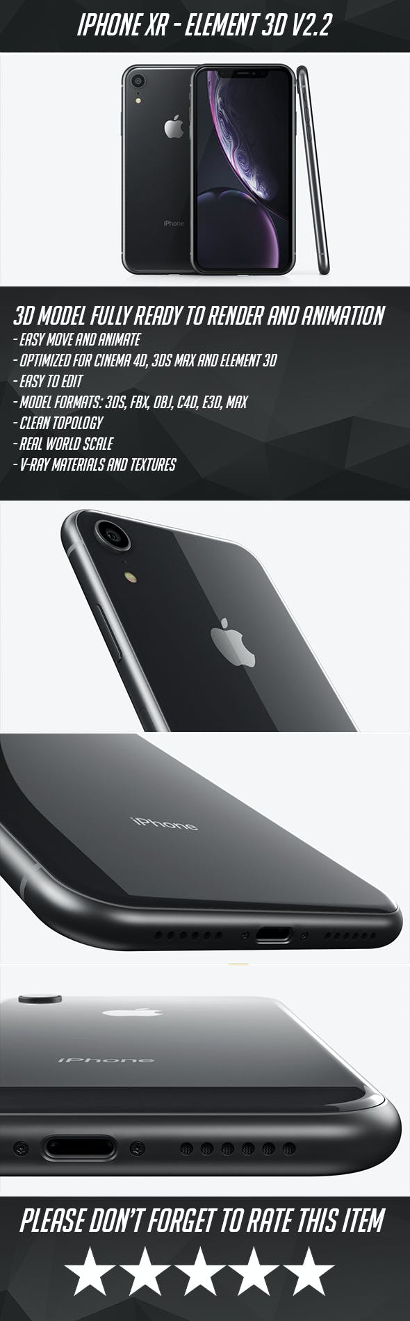 iPhone XR - 3DOcean Item for Sale
