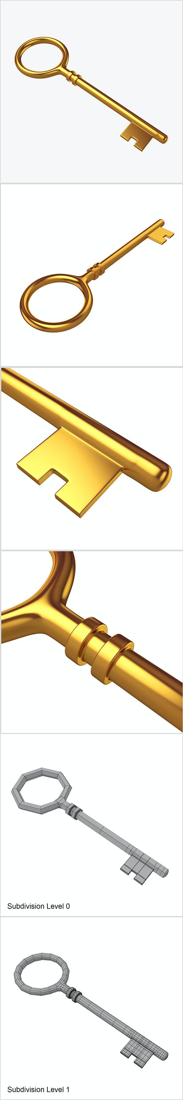 Key gold - 3DOcean Item for Sale