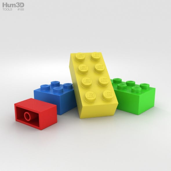 Lego Brick - 3DOcean Item for Sale