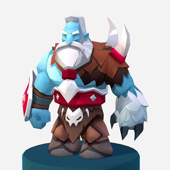 Handpaint Cartoon Nord Viking MMO rpg Character