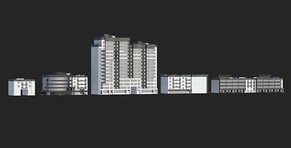 Buildings Set 1 Vol 1 - 3DOcean Item for Sale