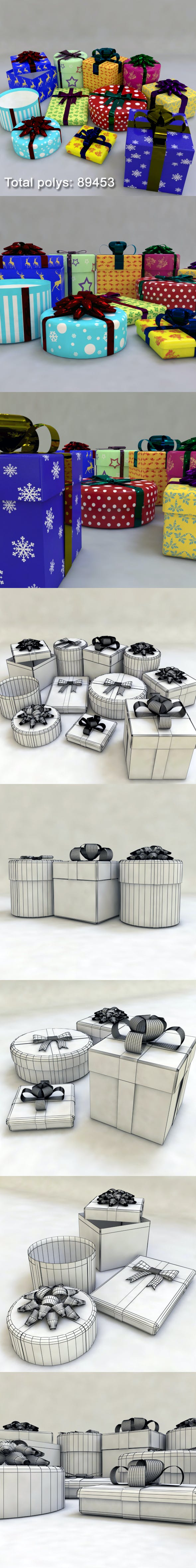 Gift Boxes Pack - 3DOcean Item for Sale