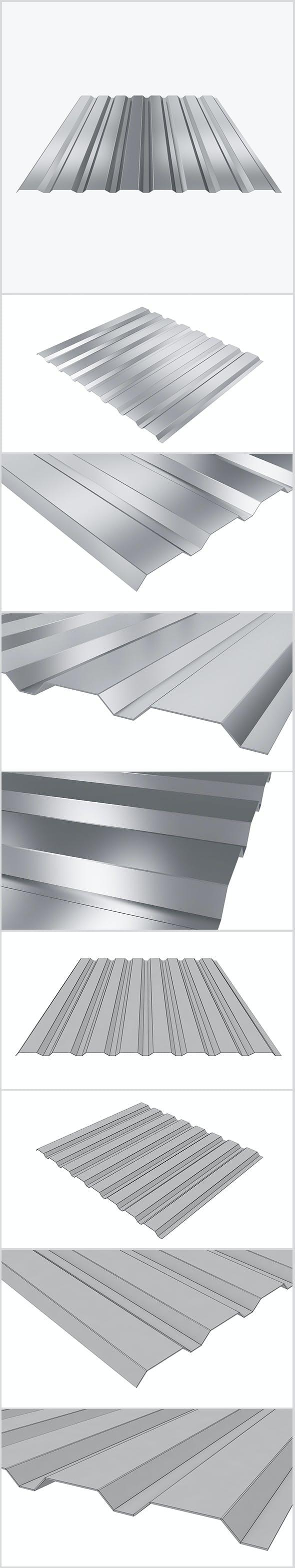 Profiled sheet 01 - 3DOcean Item for Sale