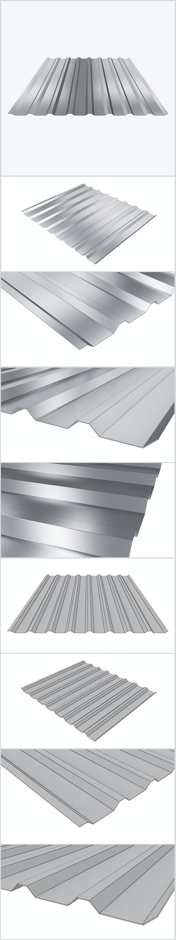 Profiled sheet 02 - 3DOcean Item for Sale