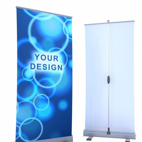 High quality model Roll-up banner display.