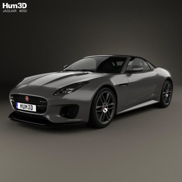 Jaguar F-Type R-Dynamic Convertible 2017 - 3DOcean Item for Sale