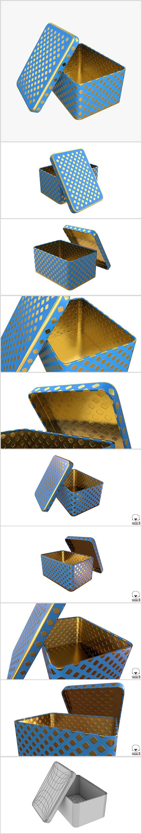 Metal Box model - 3DOcean Item for Sale