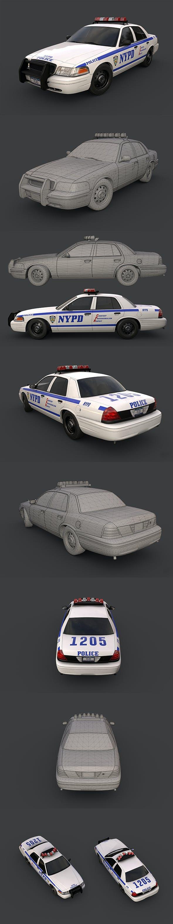 New York Police Car - 3DOcean Item for Sale