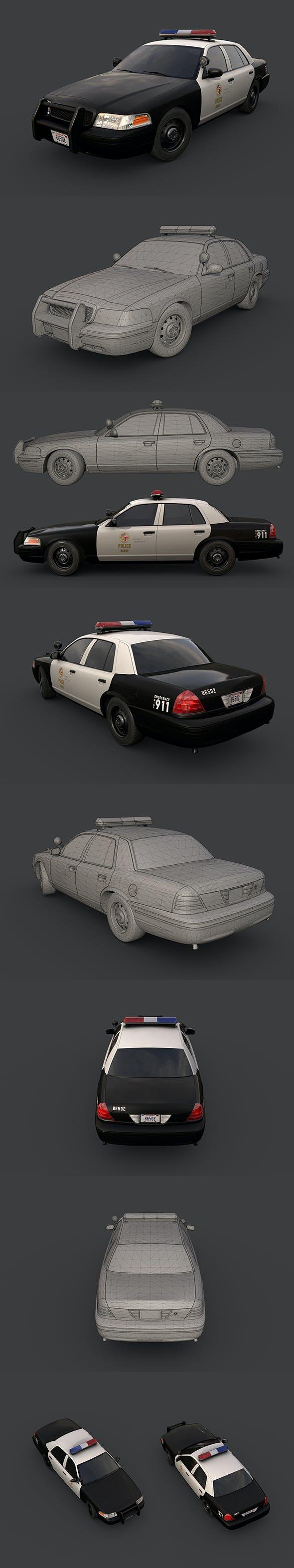 Los Angeles Police Car - 3DOcean Item for Sale